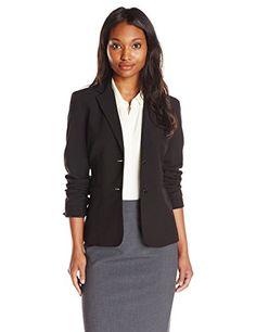 Calvin Klein Women's 2 Button Jacket, Black, 12 Calvin Klein http://smile.amazon.com/dp/B00K69O2S6/ref=cm_sw_r_pi_dp_TXVYvb1KAXNMJ
