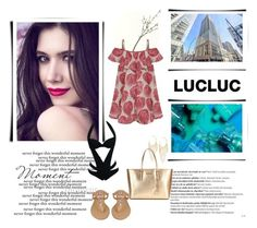 """www.lucluc.com"" by nahed-samer ❤ liked on Polyvore featuring Crate and Barrel, Balmain, Lydell NYC, MICHAEL Michael Kors, Black Rivet and luclucblogger"
