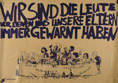 """Die Spontis wollten sich von der """"spießigen"""" Generation abheben und griffen somit den toleranten Charakter der 68-Bewegung auf."""