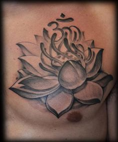 lotus flower tattoo | George Perham Tattoos : Tattoos : Black and Gray : Lotus Flower