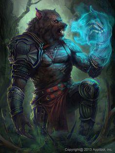 Licantropo. Werewolf / wolf man shaman