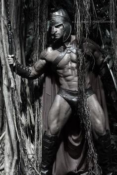 Roman Captain Jeff Seid in his fetish gear Spartacus, Jeff Seid, Le Male, Fantasy Male, Raining Men, Chiaroscuro, Male Form, Gorgeous Men, Male Models