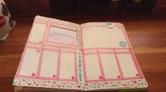 This was Valentine week's layout. I hated the small boxes so I redid it! #bulletjournal #bujo