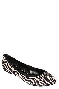 Hello Kitty Laurel Zebra Flats (Medium Width)   Clearance