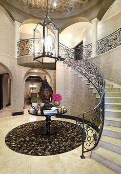 #KhloeKardashian's California Home: Stairwell>> http://www.frontdoor.com/photos/inside-khloe-kardashians-california-mansion?soc=pinterest