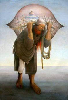 """Image result for سليمان منصور صاحب اللوحة المشهورة """"جمل المحامل"""""""