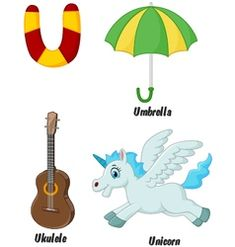 U alphabet vector Zebra Cartoon, Cartoon Whale, Horse Cartoon, Cartoon Elephant, Cartoon Kids, Bubble Alphabet, V Alphabet, Alphabet Charts, Animal Alphabet