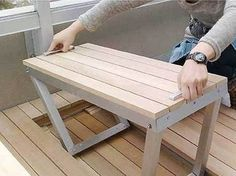 This may be hideaway deck furniture, but a pop up seat like this in a tiny house could also be a great use of space.