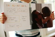 Quite Possibly the Best Father's Day Gift EVER! A book where your child customizes each page just for their daddy.