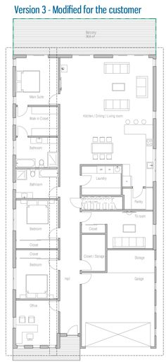 convert garage into liveable space, used office to create a second suite( to masters) and add a second story above the bedrooms making them 2 more masters add a second story patio roof top garden