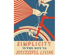 Reminded me of an old favorite phrase: Live simply, so others can simply live