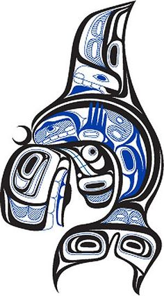 first nations killerwhale design pacific northwest pinterest native art and tattoo. Black Bedroom Furniture Sets. Home Design Ideas