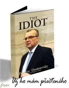 The Idiot Dostoevsky, Humor, Funny, Cover, Books, Libros, Humour, Book, Funny Photos