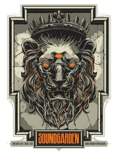 Soundgarden screen print by Ken Taylor