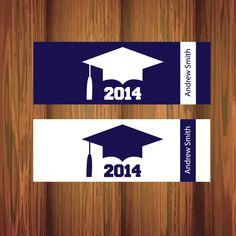 Graduation Cap Hershey Candy Bar Wrapper Labels  - Printable PDF - Custom Colors by SOSPrintables on Etsy https://www.etsy.com/listing/181870225/graduation-cap-hershey-candy-bar-wrapper