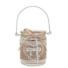 Hessian Hanging Candle Jar