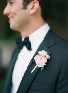 Pink Ranunculus Boutonniere | Brides.com