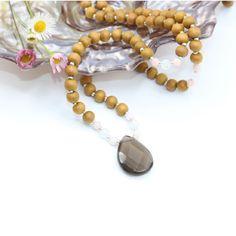 Malas – Tiny Devotions – Mala Bead Necklaces, Bracelets, Rings, and Yoga Jewelry. Handmade with intention. Silver Necklaces, Beaded Necklace, Beaded Bracelets, Yoga Jewelry, Pink Opal, Smokey Quartz, Turquoise Gemstone, Amethyst, Jewelry Design