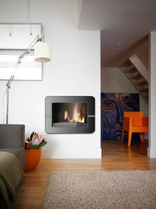 contemporary built-in wood-burning stove 900 AXEL INVICTA