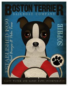 Boston Terrier - Dogs & Sailing