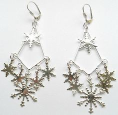 Snowflake Chandelier Earrings by CrashsCuriosities on Etsy
