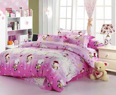 luxury king size rose print korean style bedding set for body
