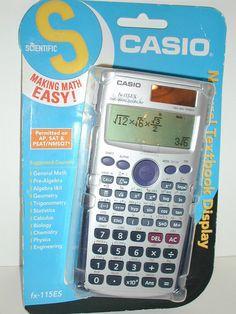New CASIO SCIENTIFIC CALCULATOR FX-115 ES Natural Textbook Display NIP #Casio