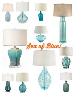 A Sea of Blue and Aqua lighting options - Let us help you choose!