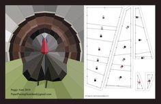 Free Turkey paper piecing pattern
