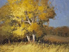 Dappled Gold by Kim Casebeer Oil ~ 9 x 12