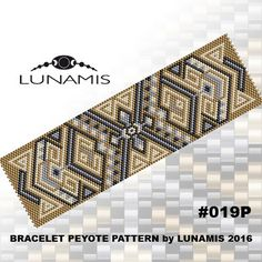 Bracelet pattern, peyote pattern, stitch pattern, pdf file, pdf pattern, #019P by LunamisBeadsPatterns on Etsy