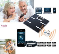 Diagnosewaage und Aktivitätssensor für Tag & Nacht, die sich mit dem Smartphone vernetzen