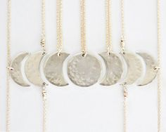 Moon Necklaces / Best Friend Necklaces / Mother Daughter Jewelry / Bridesmaid Jewelry / Sister Necklaces / Friendship Necklaces / Fall 2016 by amywaltz #TrendingEtsy