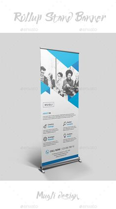 Rollup Stand #Banner - #Signage Print #Templates Download here: https://graphicriver.net/item/rollup-stand-banner/20318011?ref=alena994