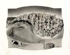 'Love Floats For Some Reason' The yin-yang of rural vs urban life. Urban Life, Yin Yang, Pencil Drawings, Artwork, Work Of Art, Auguste Rodin Artwork, Artworks, Illustrators, Pencil Art