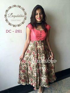 Order contact my WhatsApp number 7874133176 Long Dress Design, Dress Neck Designs, Churidar Designs, Kurta Designs Women, Designer Anarkali Dresses, Designer Dresses, Kalamkari Dresses, Simple Kurti Designs, Long Gown Dress