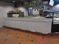 Routed Panel not just for feature Wall . An outstanding design for counter front