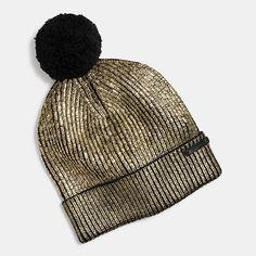 Coach Metallic Foil Hat