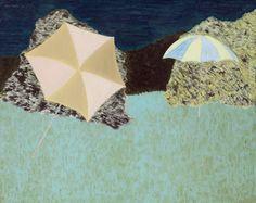 March Avery (b. 1932) Lawn Umbrellas (1970)oil on canvas101.6 x 127cm