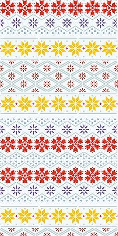 Nordic Stencil Nordic Pattern 2 - stencil, not fabric