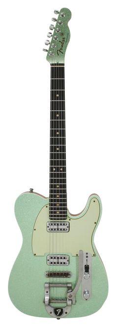 Fender Custom Shop Double TV Jones Telecaster Bigsby Sea Foam Green Metallic
