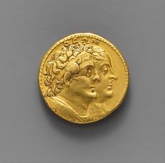 Gold oktadrachm of Ptolemy III Euergetes Period: Hellenistic Date: ca. 246–221 B.C. Culture: Greek, Ptolemaic Medium: Gold