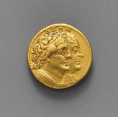 Gold oktadrachm of Ptolemy III Euergetes Period: Hellenistic Date: ca. 246–221 B.C. Culture: Greek, Ptolemaic Medium: Gold