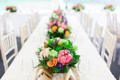 A vibrant Summer wedding by The Flower Shop