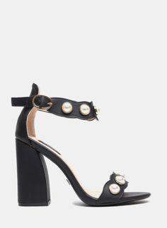 Czarne sandałki Baby Pearls