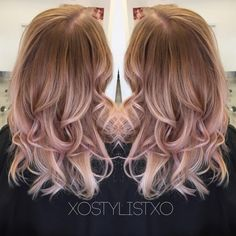 Beige rose gold sombre. | Modern Salon - gives dyes and directions for perfect somber