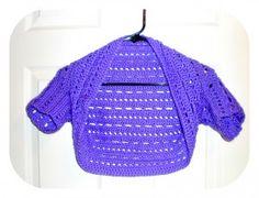 Dots and Dashes Bolero/Shrug - free pattern #crochet
