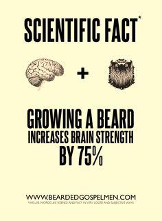 Grow a beard brain power increase Clever random fact manhood. Take note