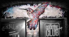 Hummingbird Mural in a nightclub #hummingbird #streetart #mural #graffiti