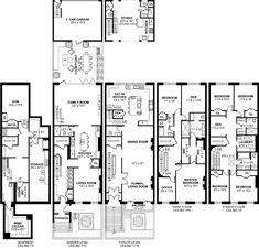 504 Hudson Street Hoboken NJ Townhouse for Sale New York Brownstone, London Townhouse, London House, Townhouse Interior, Townhouse Designs, Town House Floor Plan, Mansion Homes, Garage Floor Plans, Garage Dimensions